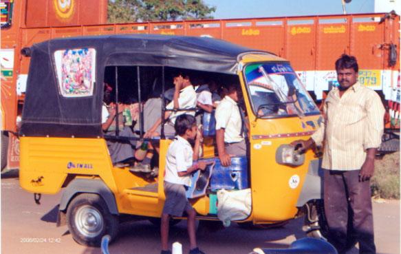 auto rickshaws in the city